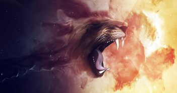 Hình nền sư tử gầm thét dũng mãnh