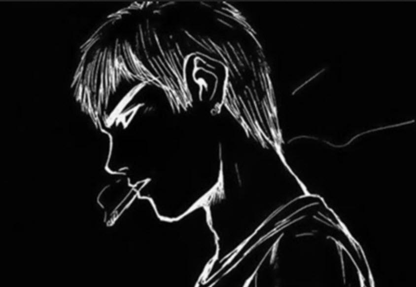 Avatar con trai hút thuốc cô đơn