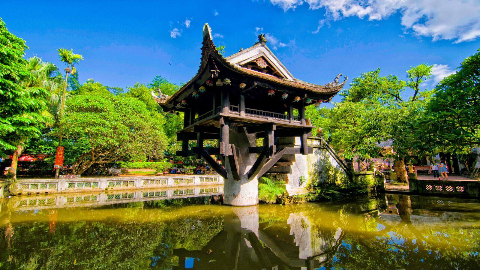 Hình ảnh chùa Một Cột