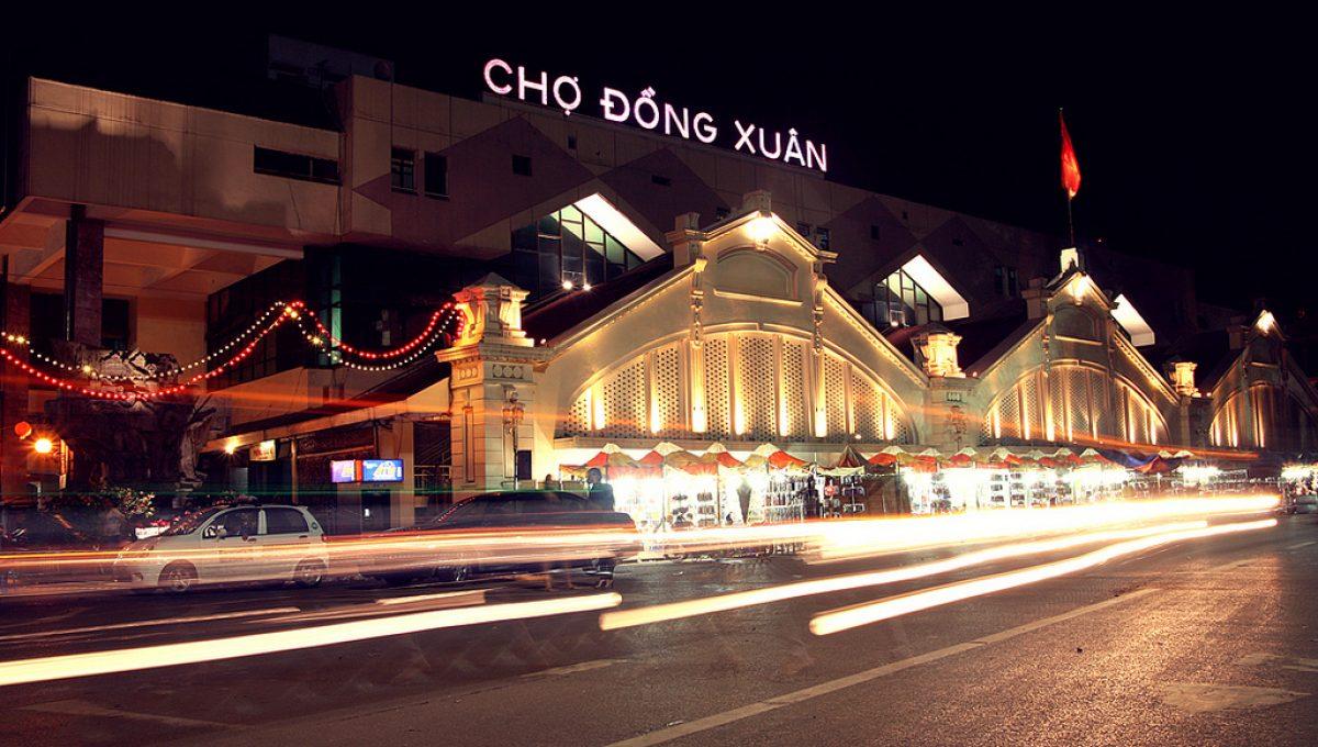Hình ảnh chợ Đồng Xuân