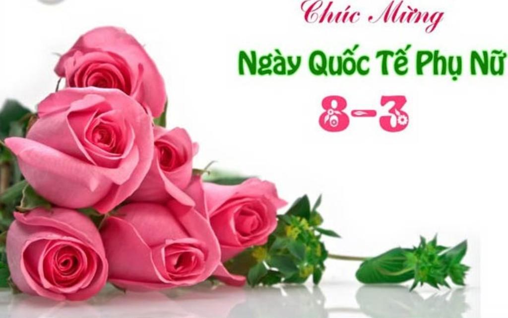Hình ảnh ngày 8/3 với bó hoa hồng tuyệt đẹp